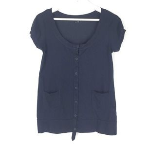 Theory Short Sleeve Button Down Top P